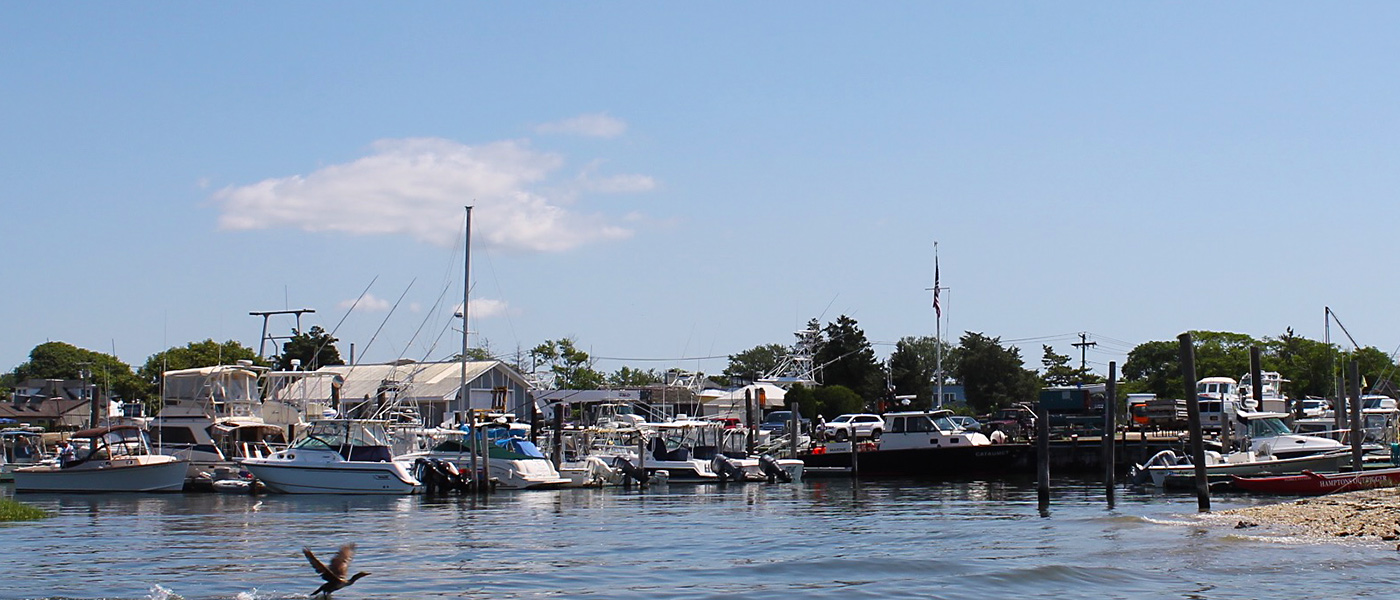 Ponquogue Marine Basin by sea