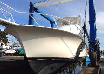 Launching a 48 Ocean Yachts