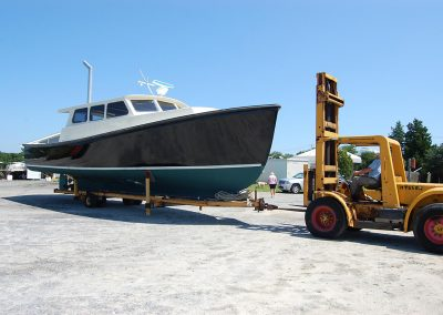 42 Cape Dory Bruno in our boat yard