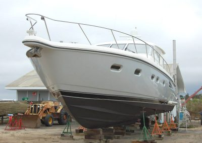 Tiara 54 for service in our boat yard | Tiara Yachts