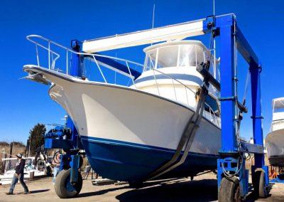 Henriques 45 Sportfish for launching | Henriques, Sportfishing, Marine Hoist, Boat Yard