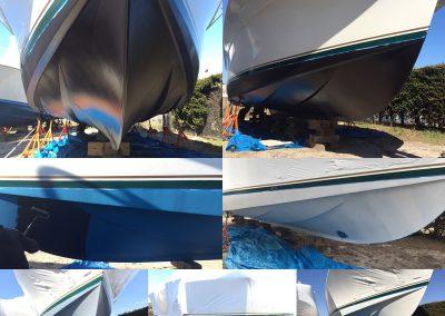 Egg Harbor 53 bottom restoration with Interprotect | Egg Harbor, Sportfishing, boat yard